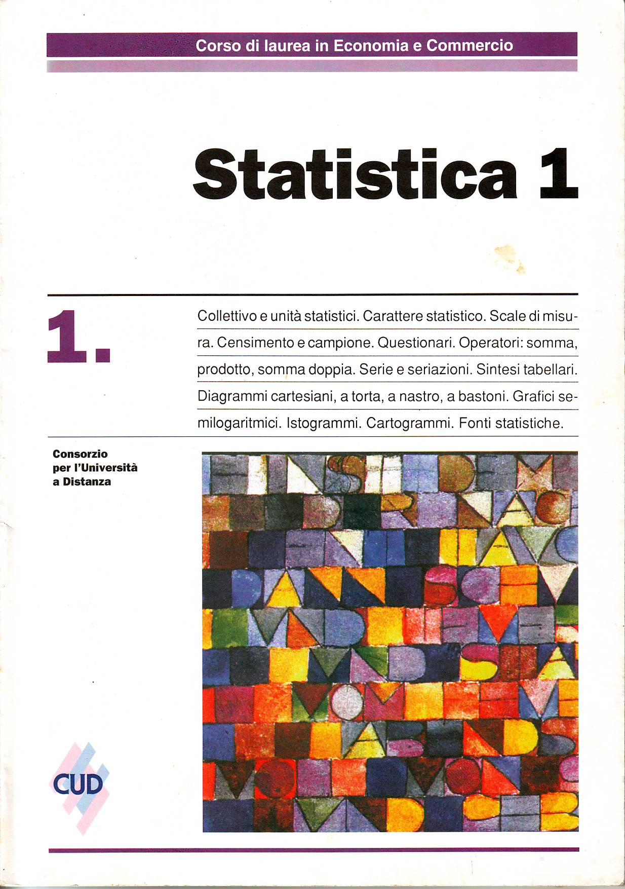 Statistica 1 - Vol. 1