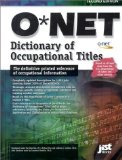 O net Dictionary of Occupational Titles