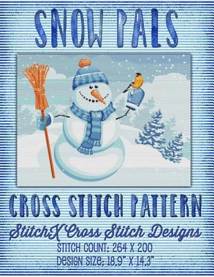 Snow Pals Cross Stitch Pattern