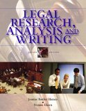 Legal Research, Analysis, and Writing