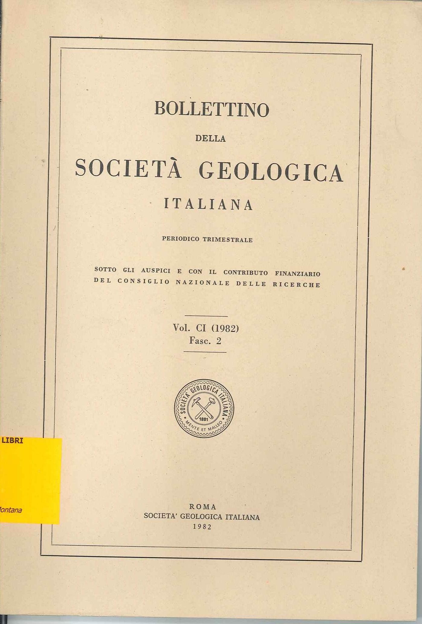Bollettino della Società Geologica Italiana Vol. CI Fasc. II