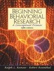 Beginning Behavioural Research