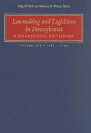 Lawmaking and Legislators in Pennsylvania