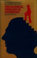 Philosophical Problems in Psychology