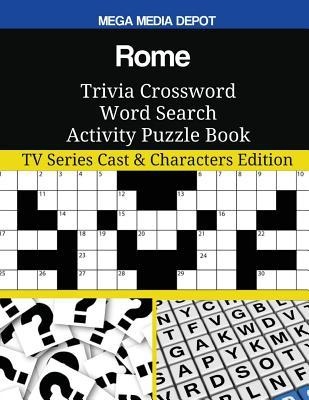 Rome Trivia Crossword Word Search Activity Puzzle Book