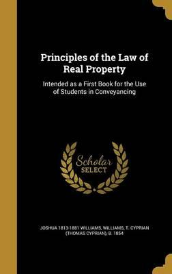 PRINCIPLES OF THE LAW OF REAL