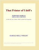 That Printer of Udell's (Webster's Korean Thesaurus Edition)