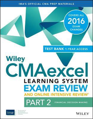 Wiley Cmaexcel Learning System Exam Review 2016 + Online Intensive Review
