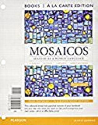 Mosaicos + Student Activities Manual + Answer Key Student Activities Manual