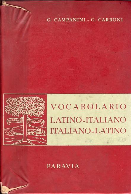 Vocabolario latino-italiano, italiano-latino