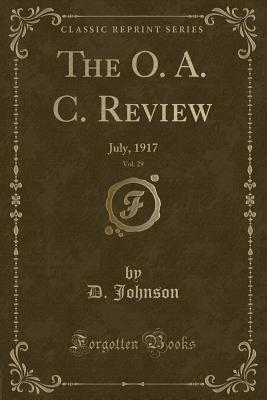 The O. A. C. Review, Vol. 29