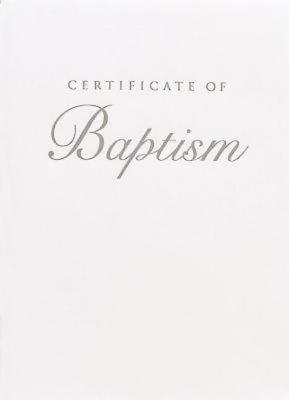 Abingdon Select Collection Children's Baptism Certificate, Silver