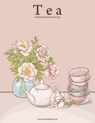 Tea Coloring Book for Grown-ups