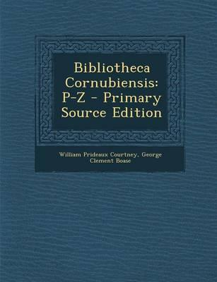 Bibliotheca Cornubiensis