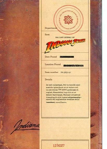 Il diario perduto di Indiana Jones