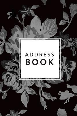 Address Book Greyscale Floral