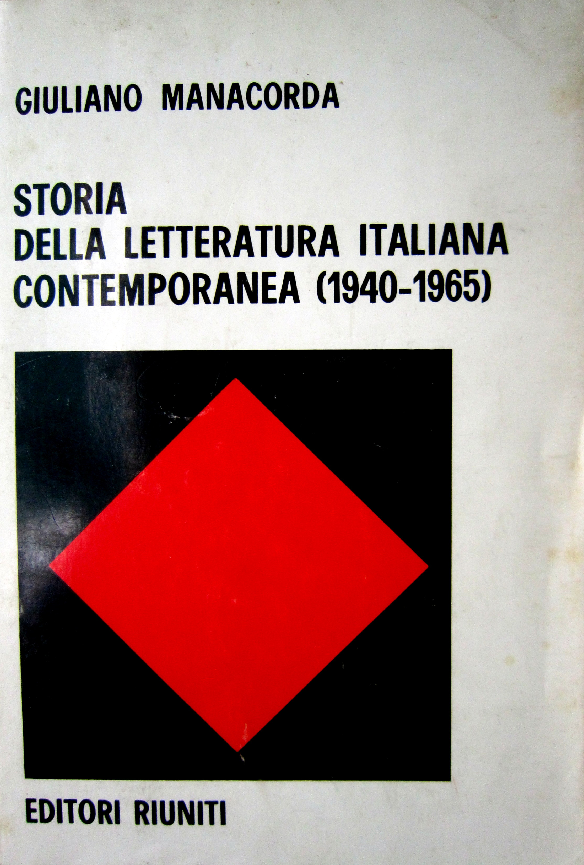 Storia della letteratura italiana contemporanea (1940-1965)