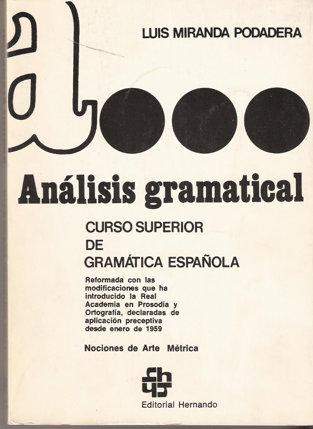 Análisis gramatical