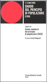 Saggio sul principio di popolazione (1798)