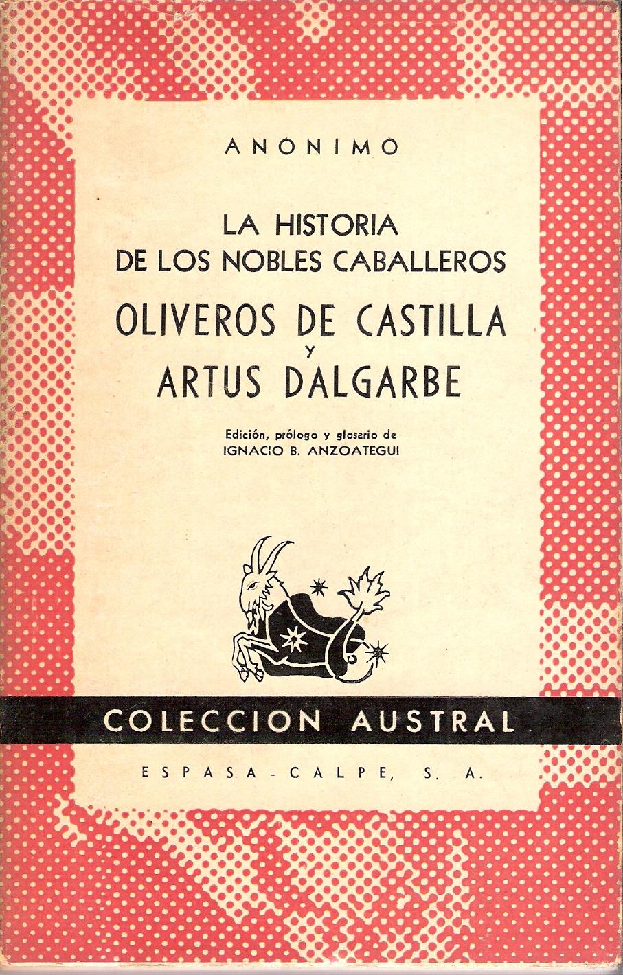 La historia de los nobles caballeros Oliveros de Castilla y Artús Dalgarbe