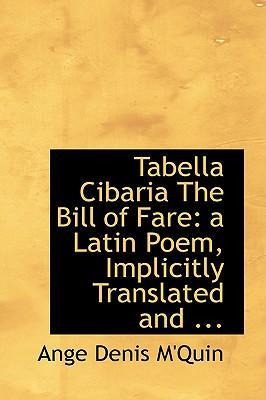 Tabella Cibaria the Bill of Fare