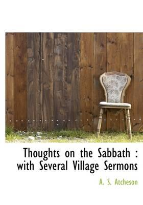 Thoughts on the Sabbath