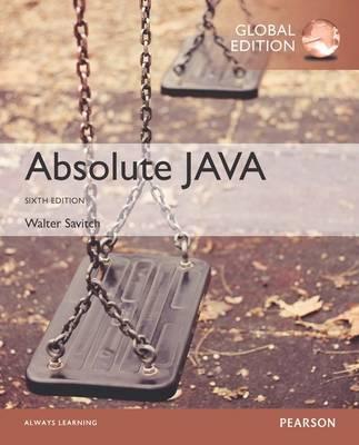 Absolute Java, Globa...