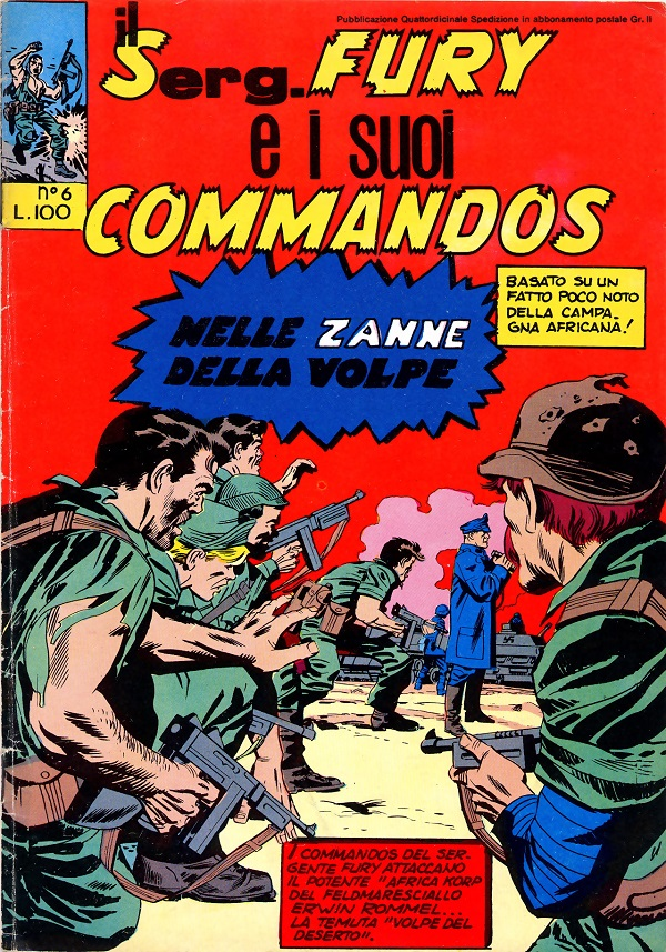Il serg. Fury e i suoi commandos n. 6