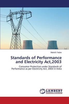 Standards of Performance and Electricity Act,2003