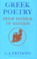 Greek Poetry from Homer to Seferis