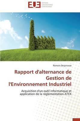 Rapport d'Alternance de Gestion de l'Environnement Industriel