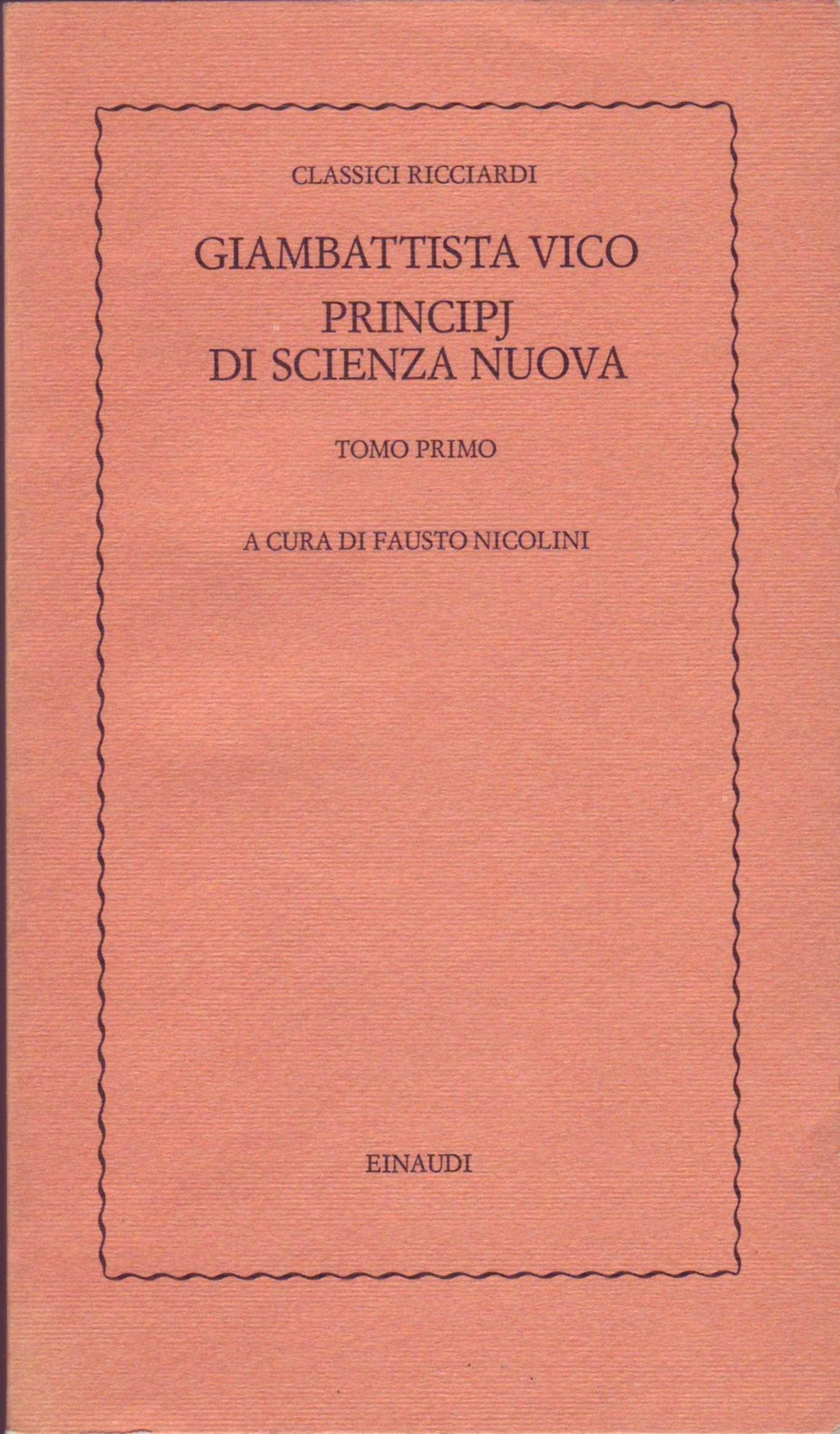 Principj di Scienza nuova - Vol. 1