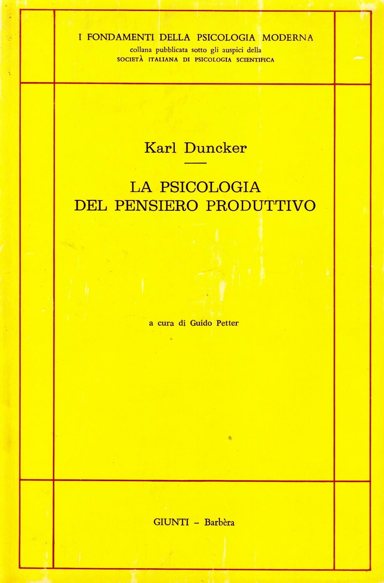 La psicologia del pensiero produttivo