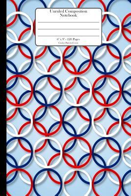 """Unruled Composition Notebook. 6"""" x 9"""". 120 Pages. Circles Pattern Cover"""