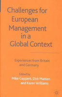 Challenges for European Management in a Global Context