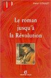 Le Roman jusqu'á la Révolution