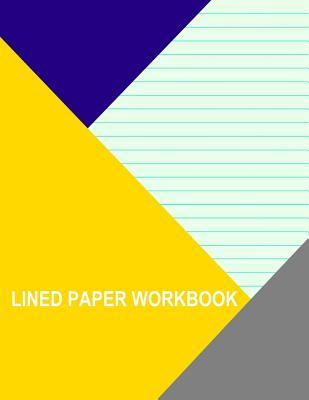 Light Green With Wide Aqua Lines Left Handed Lined Workbook