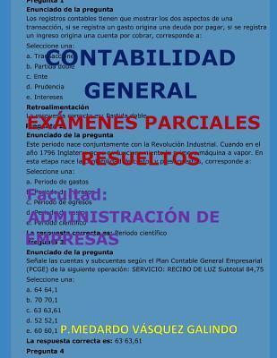 CONTABILIDAD GENERAL-EXÁMENES PARCIALES RESUELTOS