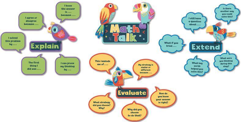 Math Talk Mini Bulletin Board Set