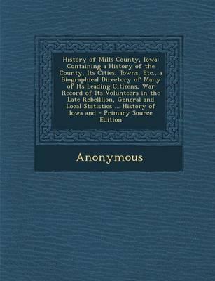 History of Mills County, Iowa