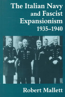 The Italian Navy and Fascist Expansionism