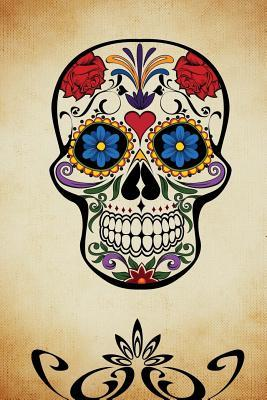 Cool Skull Decorated With Flowers Day of the Dead Journal
