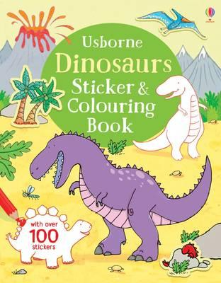 Dinosaurs Sticker and Colouring Book (First Colouring Books)