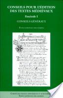 Conseils pour l'édition des textes médiévaux