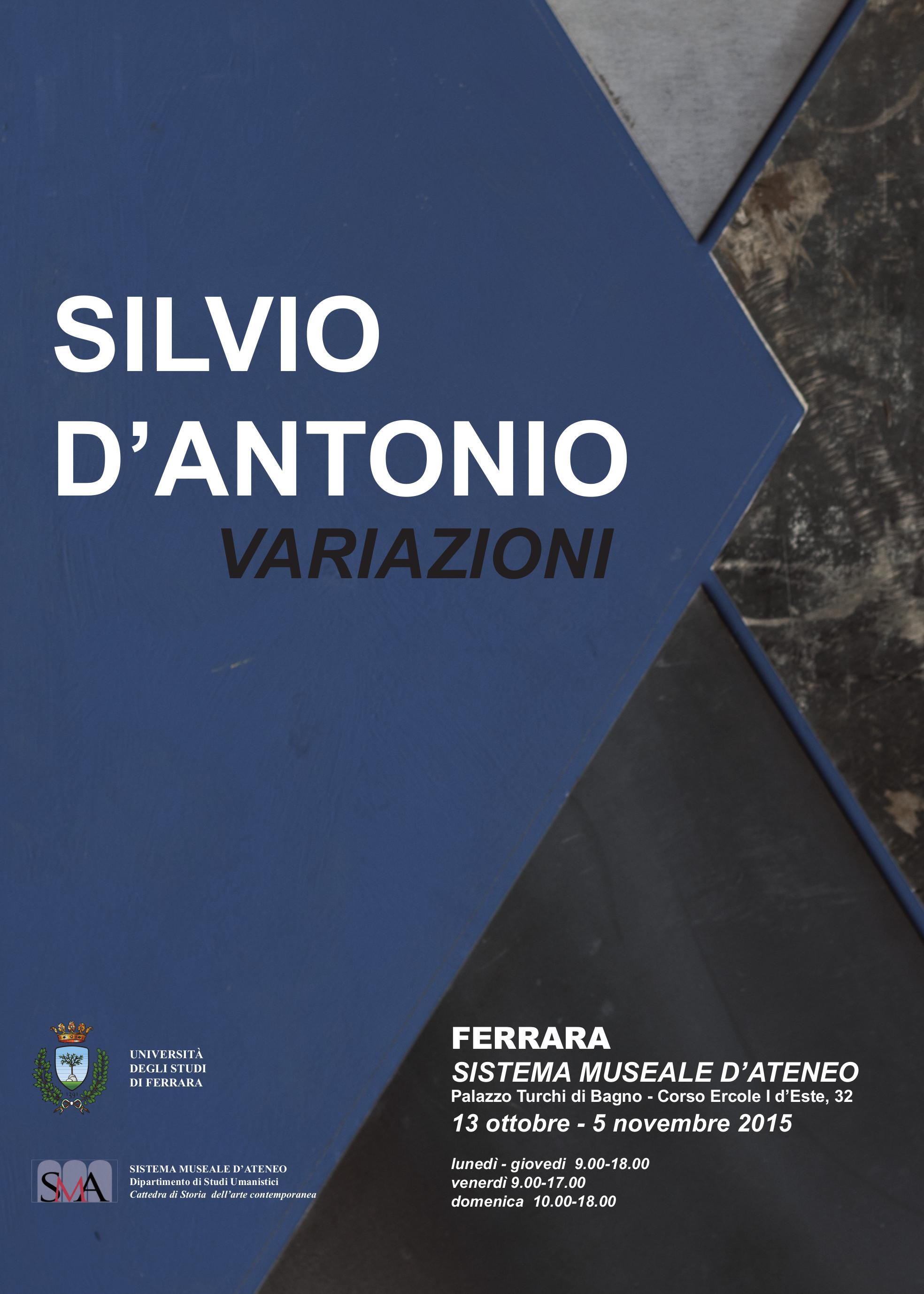 Silvio D'Antonio: variazioni