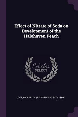 Effect of Nitrate of Soda on Development of the Halehaven Peach