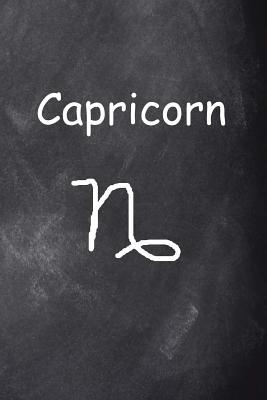Capricorn Symbol Zodiac Sign Horoscope Chalkboard Design Journal