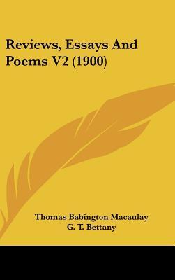 Reviews, Essays and Poems V2 (1900)