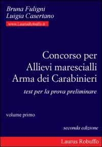 Concorso per allievi marescialli arma dei carabinieri