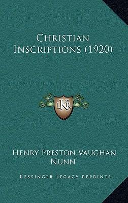 Christian Inscriptions (1920)
